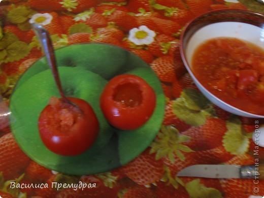 Запеченые помидоры,фаршированные сыром фото 3