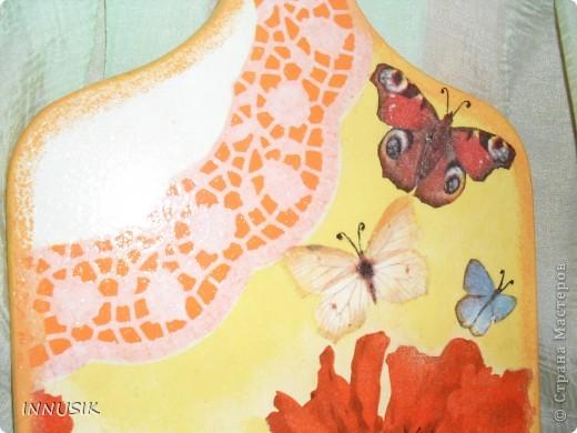 Не знаю краше ангельских цветов,  Которые зовутся красным маком ...  Нежнее не встречала лепестков -  Блестящих, как покрытых лаком...   Вот такую досочку мне  захотелось сделать летом))). Ниже даю описание своей работы. фото 9