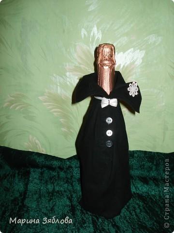 Вот такие бутылочки мы делали на свадьбу. фото 3