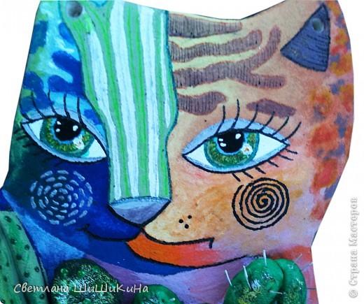 По рисунку художника Оксаны Заика. Кактусы объемные. фото 3