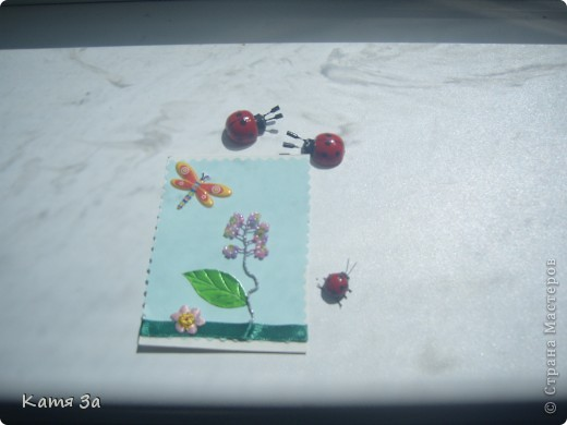 """Посмотрела на свою сакуру и решила сделать АТС в этой технике. Стебелёк, для красоты оплела ниткой люрекс. Так и появились на свет """"чудо-цветы"""". Приглашаю кредиторов: bagira 1965, hobby 66, JK1986, Anna Demakova, Гайденко Елена, Дерябина Вера, ЛеНкина.  фото 7"""