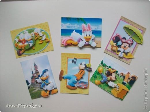 Карточка АТС Аппликация Микки Маус и его друзья 3D Бумага фото 1