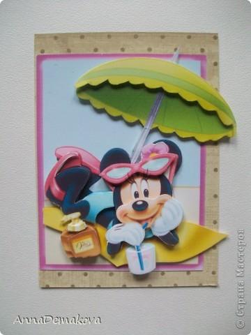 Карточка АТС Аппликация Микки Маус и его друзья 3D Бумага фото 4