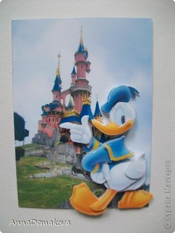 Карточка АТС Аппликация Микки Маус и его друзья 3D Бумага фото 5