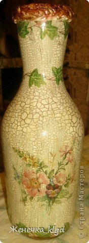 Ваза (из бутылки из под вина) фото 1