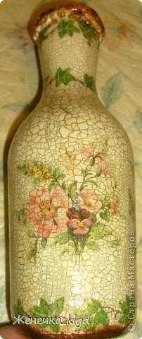 Ваза (из бутылки из под вина) фото 2