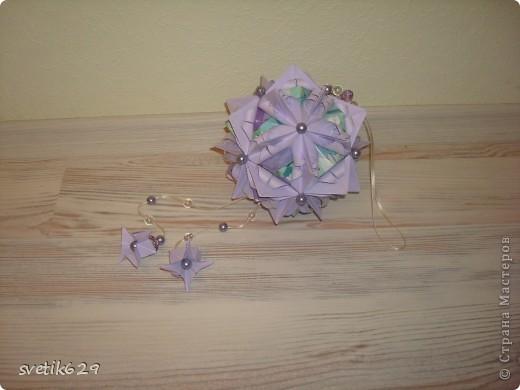 Кусудама Каменный Цветок.  Автор: Татьяна Высочина фото 3