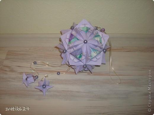 Кусудама Каменный Цветок.  Автор: Татьяна Высочина фото 1