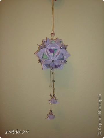 Кусудама Каменный Цветок.  Автор: Татьяна Высочина фото 2