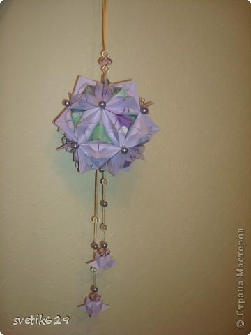 Кусудама Каменный Цветок.  Автор: Татьяна Высочина фото 4
