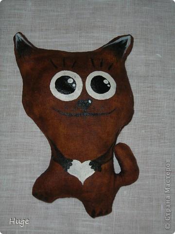 Попался мне в интернете мастер-класс по чердачной игрушке http://www.liveinternet.ru/users/anny_95/post136302163/   и решила я попробовать. Оказалось очень интересно. Пахнет котик обалденно!!!!! Кофе и ванилью.  фото 3