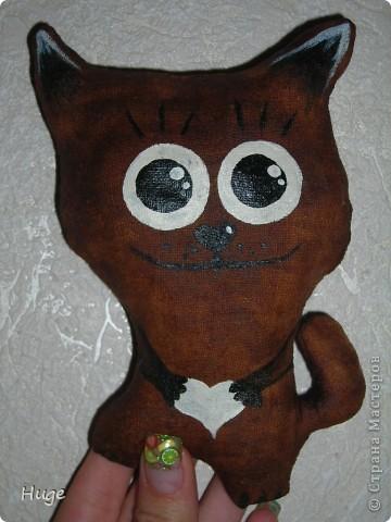 Попался мне в интернете мастер-класс по чердачной игрушке http://www.liveinternet.ru/users/anny_95/post136302163/   и решила я попробовать. Оказалось очень интересно. Пахнет котик обалденно!!!!! Кофе и ванилью.  фото 1