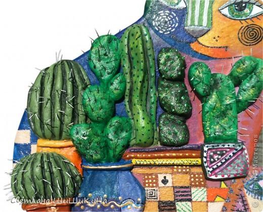 По рисунку художника Оксаны Заика. Кактусы объемные. фото 9