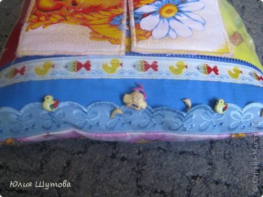 Детская подушка с развивающими элементами.Сейчас расскажу,как её шила... фото 7