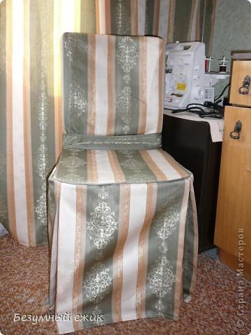 Это первый опыт шитья из портьерной ткани. фото 3