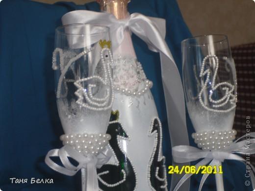 Вот такой набор сделала недавно на свадьбу ))) невеста была в восторге. Идея для декора фужеров взята из интернета (автора не помню) фото 2