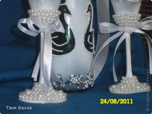 Вот такой набор сделала недавно на свадьбу ))) невеста была в восторге. Идея для декора фужеров взята из интернета (автора не помню) фото 3