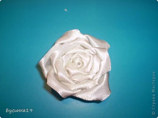 МК роза наборная из ткани фото 1