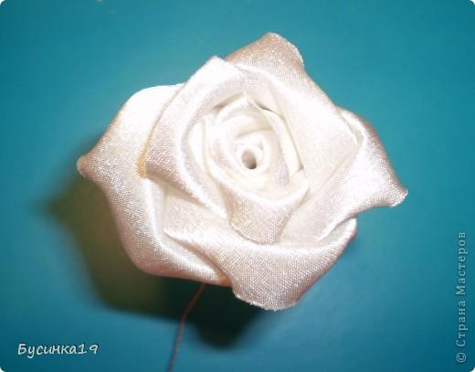 МК роза наборная из ткани фото 9