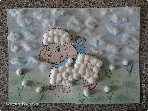 Как хорошо, что лето не очень жаркое !!! Я рада...и овечка моя улыбается !!!