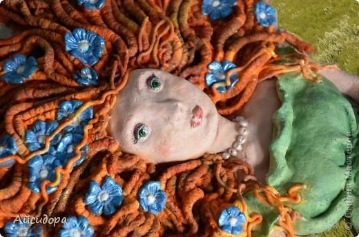 """Очень мне понравились работы Решенскова Екатерина """"Девушка в цветах"""", """"Русалочка""""; ОлюШкА СтаРовОйтовА """"Нимфа"""". Вот и я наконец-то решилась сваять женское лицо. Результатом не особо довольна, но будем развиваться. фото 1"""