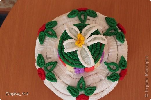 Ну вот он мой тортик! Тортик выполняла по этому мастер классу  http://stranamasterov.ru/node/31491?tid=451.  фото 4