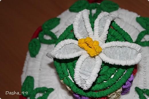 Ну вот он мой тортик! Тортик выполняла по этому мастер классу  http://stranamasterov.ru/node/31491?tid=451.  фото 5