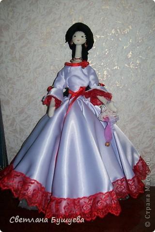 Кукла невеста. Родилась как украшение в свадебный салон. Первая кукла с использованием волос женского парика фото 4