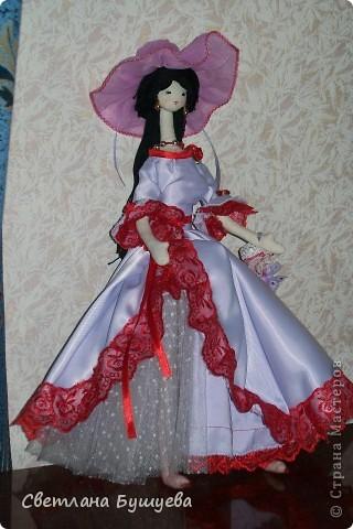 Кукла невеста. Родилась как украшение в свадебный салон. Первая кукла с использованием волос женского парика фото 5