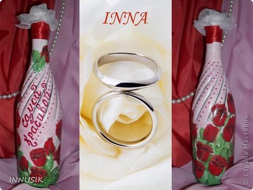 """Бутылочка """"Олива"""". Бутылка, мотивы 2-х салфеток, клей ПВА, грунт (акриловая интерьерная краска), акриловые краски для подрисовки, лак акриловый и паркетный алкидный. Бутылочку можно использовать по назначению))) фото 6"""