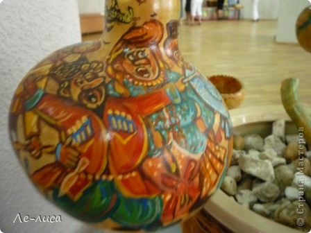 Декоративные бутылочные тыквы просто находка для прикладников. Расскажу, как делала это панно. фото 17