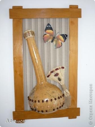Декоративные бутылочные тыквы просто находка для прикладников. Расскажу, как делала это панно. фото 11