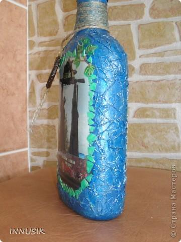 """Возникла идея сделать памятные бутылочки для гостей и жителей своего города. Работы назвала """"Добро пожаловать в Алейск"""".  Вот что у меня получилось: фото 4"""