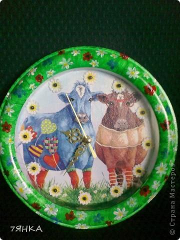 Часы с коровами  фото 1