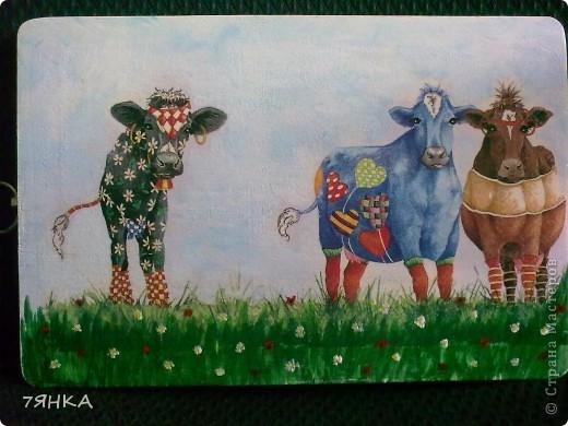 Часы с коровами  фото 3
