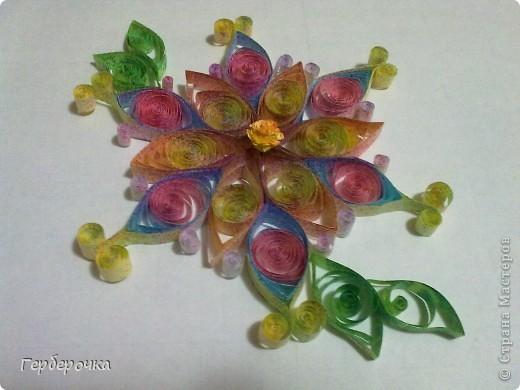 Цветок выполнен для участия в конкурсе   фото 4
