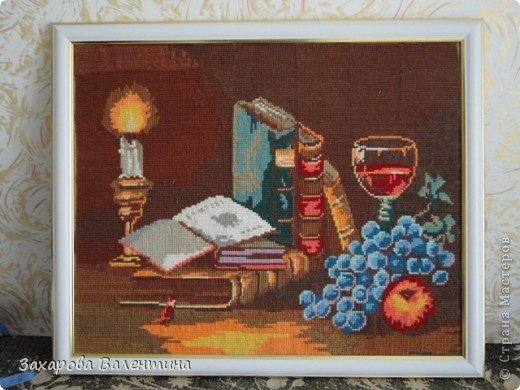 Рисунок гуашью на холсте фото 3