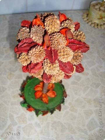 Дерево из сухих цветов и листьев фото 3