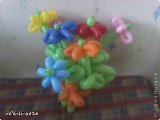 букетик из шариков фото 3