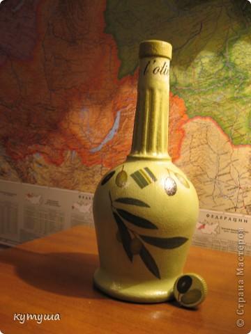 бутылочка под оливковой масло фото 1