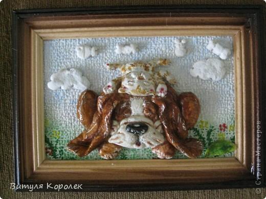 Прекрасные сны кот+пес сделала по рисунку Гари Патерсона. фото 1