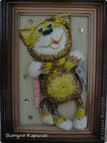 Прекрасные сны кот+пес сделала по рисунку Гари Патерсона. фото 4