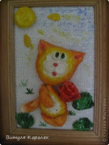 Прекрасные сны кот+пес сделала по рисунку Гари Патерсона. фото 2