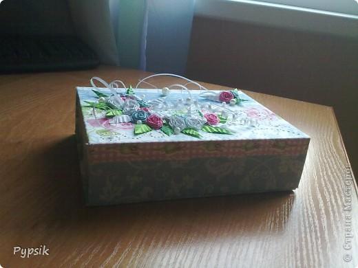 Зная про моё хобби, мне отдали коробочку, а я ее оформила на свой вкус))) фото 2