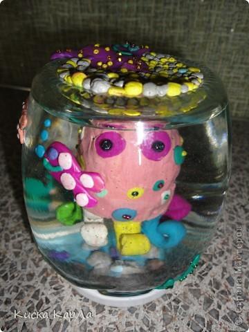 Пластилина дома было мало, а желания скорее сделать осьминожку - очень много...!!! фото 2