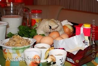 Первый раз в жизни взялась за приготовление курника. Пирог был испечен по случаю окончанию тремя моими друзьями 5 курса обучения в высшем учебном заведении и получения одного (пока!) диплома. Очень мне помогла кухарничать моя подруга Катя - спасибо ей большое. Процесс был мною зафиксирован на фотопленку/цифру. Спешу поделиться – возможно, кому-нибудь пригодится. (Сама я рецепт взяла из Интернета, скомпилировав несколько подробных руководств для кулинаров с  популярных сайтов, но на собственном опыте убедилась, что все же правки по ходу пьесы вносить приходится).  фото 2
