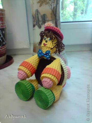 Новая игрушка из гофроленты. Черепашка в шляпке. фото 2