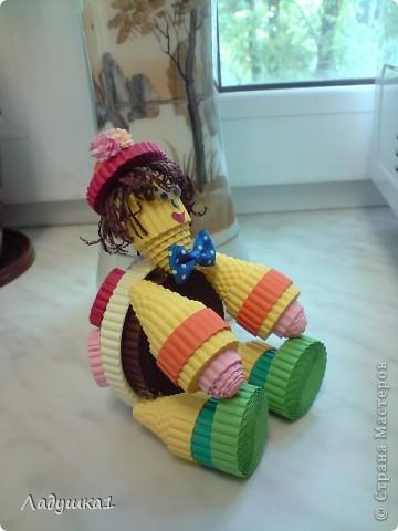 Новая игрушка из гофроленты. Черепашка в шляпке. фото 3