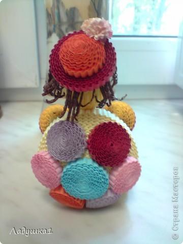 Новая игрушка из гофроленты. Черепашка в шляпке. фото 4