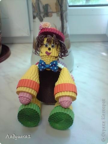 Новая игрушка из гофроленты. Черепашка в шляпке. фото 1